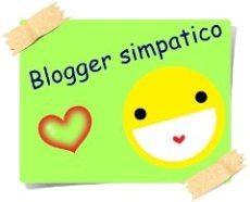 AWARD BLOGGER SIMPATICO