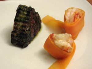 gamberi carota spinaci