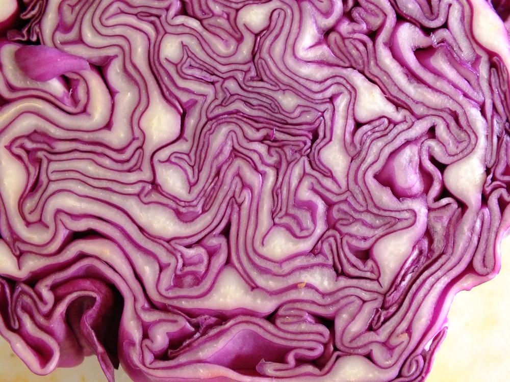 cavolo viola con pinoli e speck, il cibo è sexi (1/3)