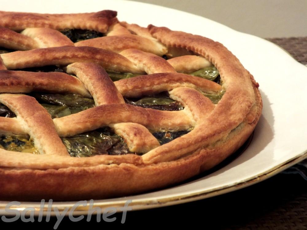 torta salata con verdure e ospiti ....... (5/6)