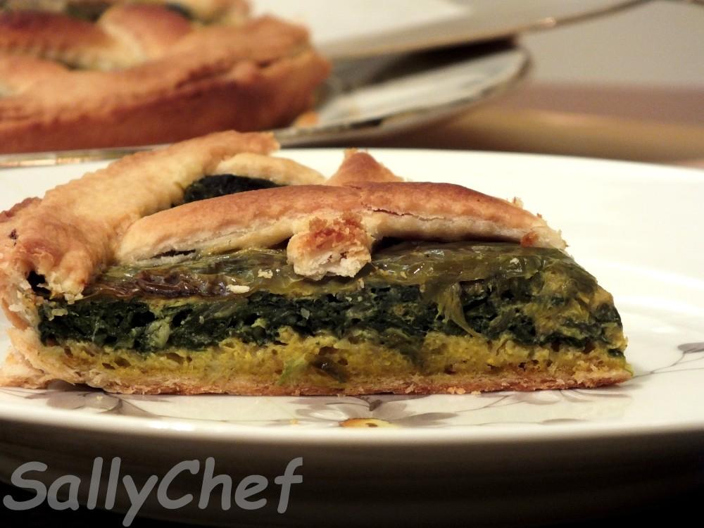 torta salata con verdure e ospiti ....... (1/6)