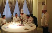 l'assaggio dei giudici della NIC e lo Chef V.Colonna