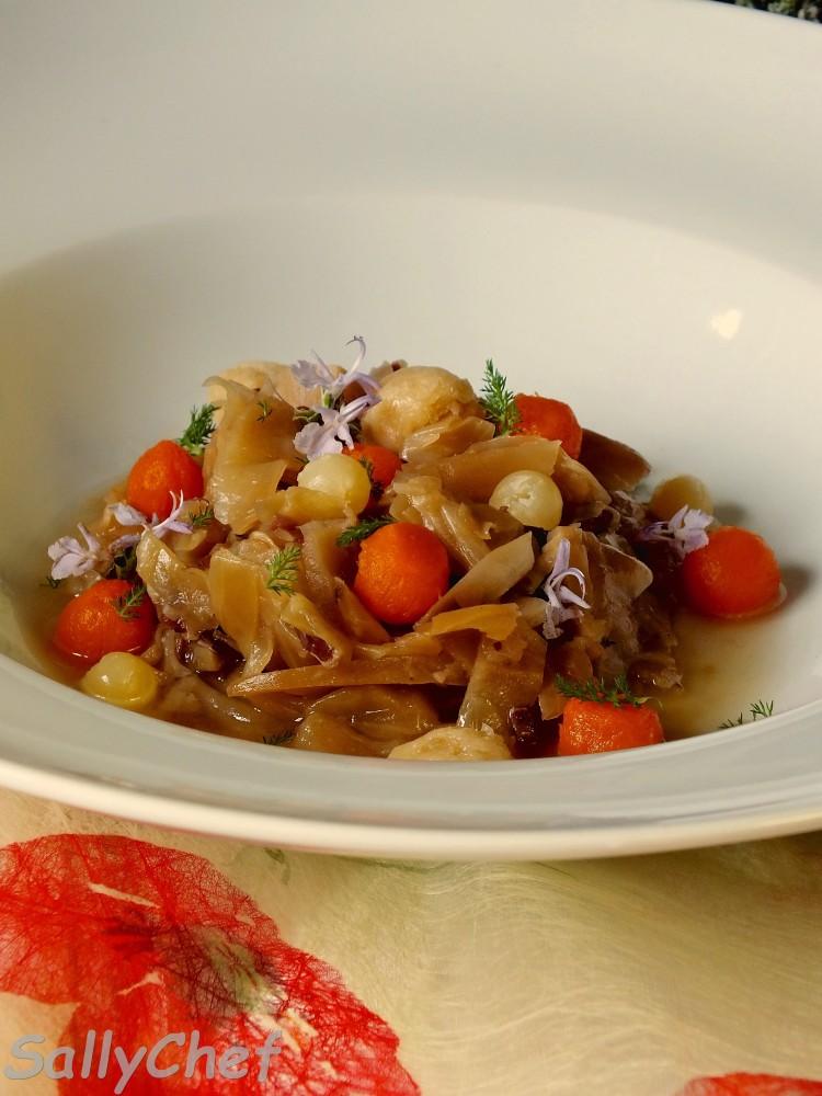 zuppetta di zucca e verza con Ubaldino in doppia cottura (4/5)