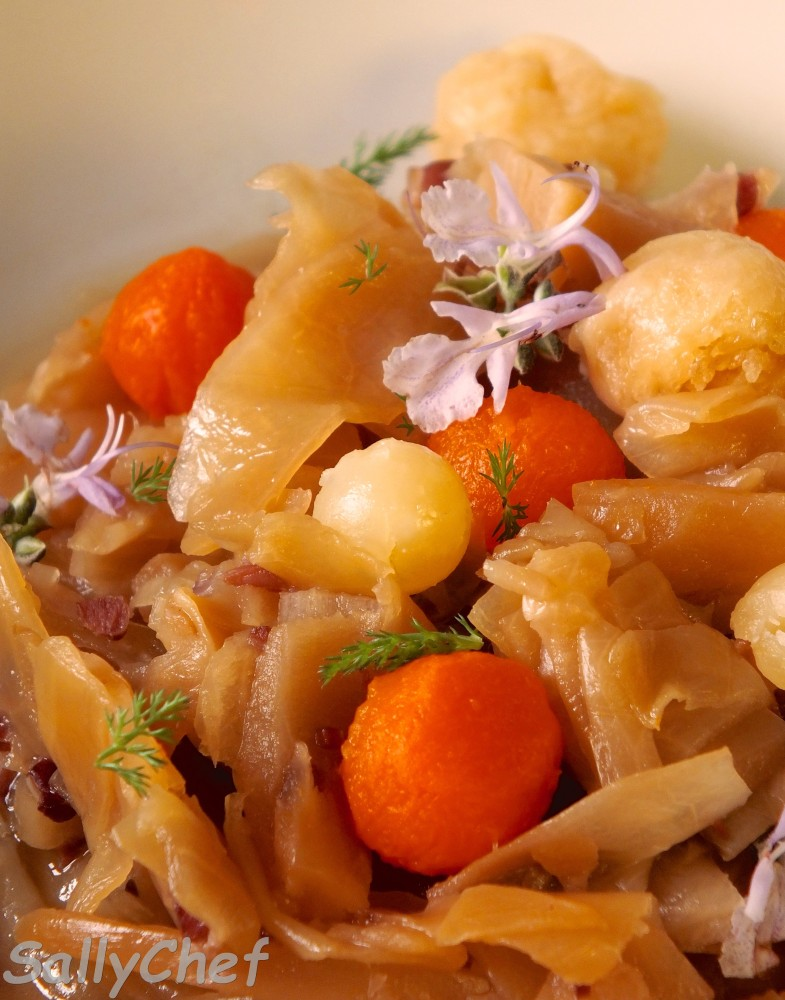 zuppetta di zucca e verza con Ubaldino in doppia cottura (3/5)