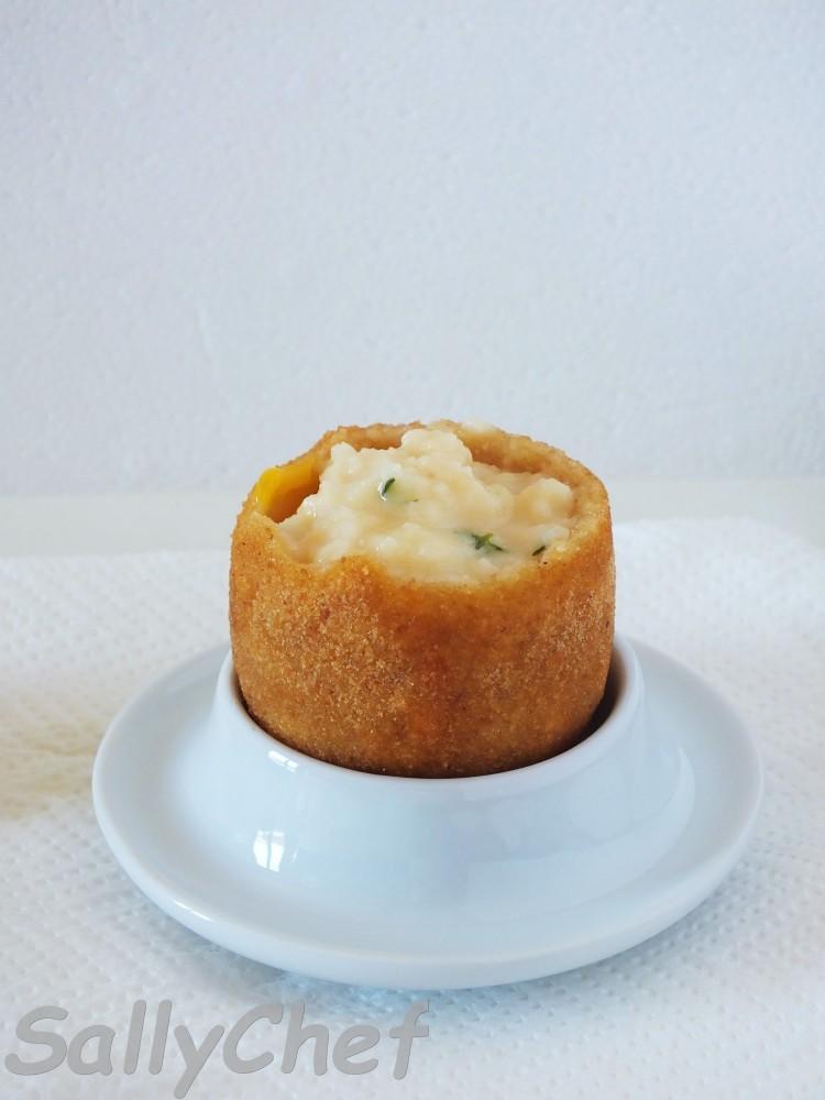 uovo fritto con sorpresa al Parmigiano (4/6)