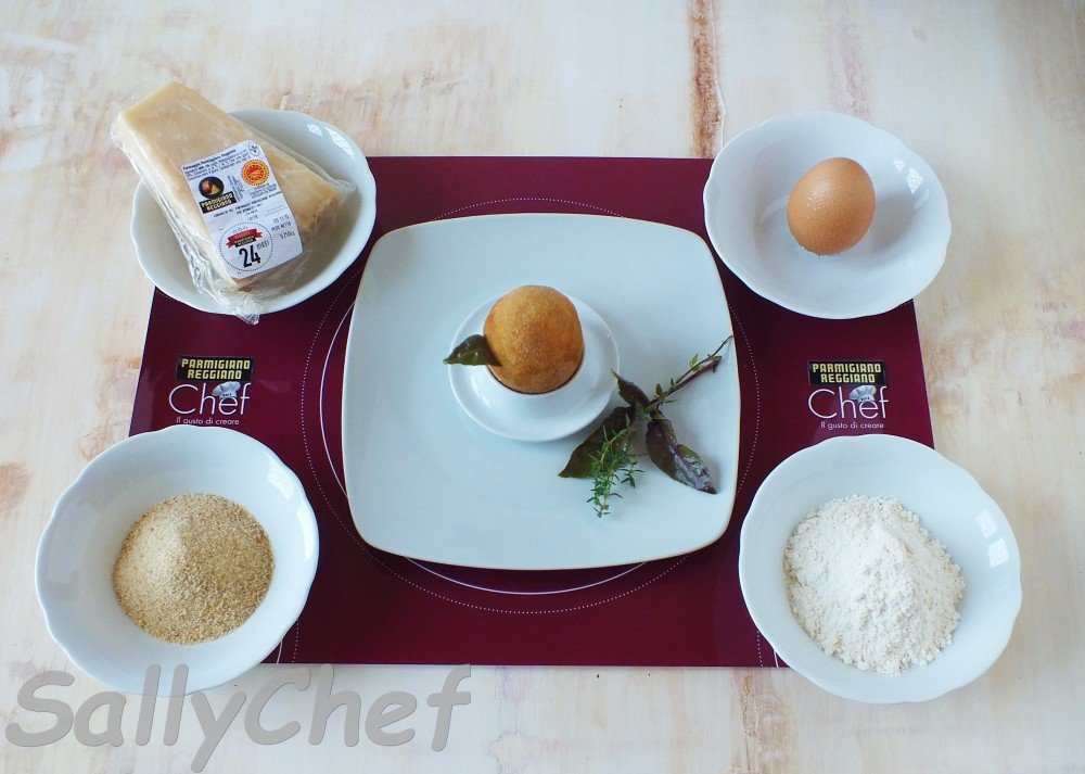 uovo fritto con sorpresa al Parmigiano (5/6)