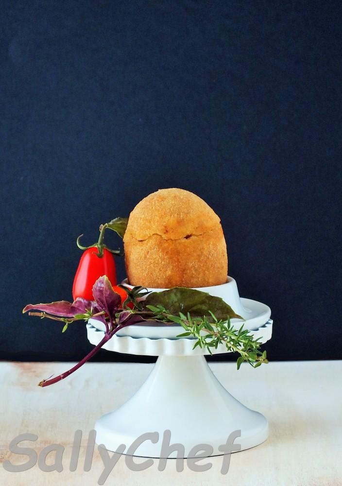 uovo fritto con sorpresa al Parmigiano (1/6)