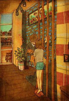 il bacio prima di uscire di casa